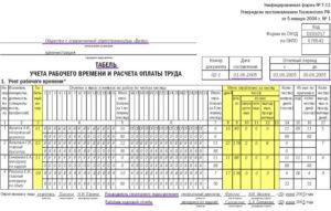 Срок хранения табеля учета рабочего времени согласно тк