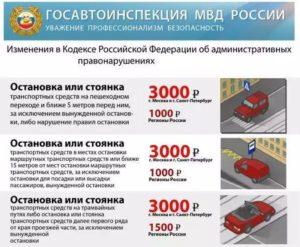 Какой штраф за остановку под знаком остановка запрещена в москве