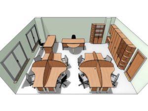 Как осуществляется расстановка мебели в помещениях дду