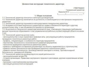 Должностная инструкция технического персонала в спорткомплексе