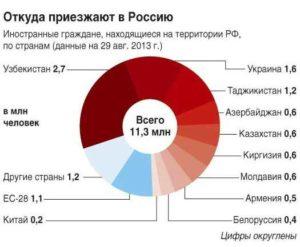 Сколько в россии приезжих