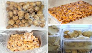 Сколько можно хранить в морозилке отваренные грибы