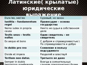 Право олимпиада 9 класс латинские выражения