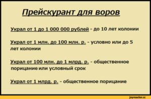 Сколько лет дают за кражу 10 миллионов