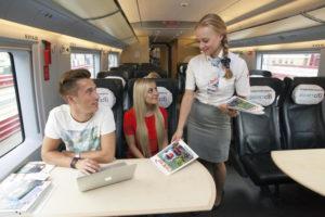 Классы обслуживания в поездах ласточка