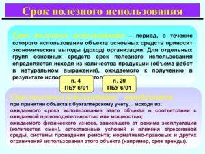 Срок службы мониторов по бух учету