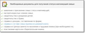 Какие документы нужны для получения пособий малоимущим в москве