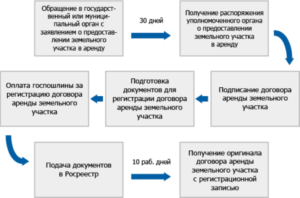 Срок государственной регистрации договора аренды земельного участка