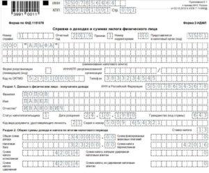 Коды видов доходов налогоплательщика 2 ндфл 2020
