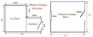 Как высчитать квадратуру комнаты пола