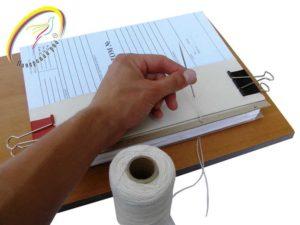Как скрепить документ больше двух листов