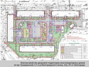 Где находится план придомовой территории с разграничением зон