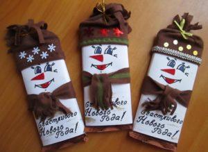 Как красиво запаковать шоколадки на новый год