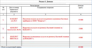 Книга учет доходов ип патент образец