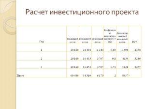 Готовые инвестиционные проекты с расчетами