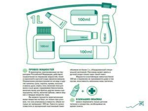 Сколько жидкости можно перевозить в ручной клади в самолете
