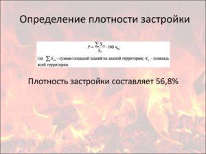 Коэф застройки формула