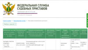 Как узнать за что штраф от судебных приставов реестр
