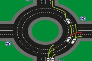 Двухполосное кольцевое движение правила выезда